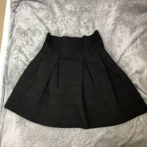 H&M structured skater high waisted black skirt